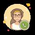 Call female icon