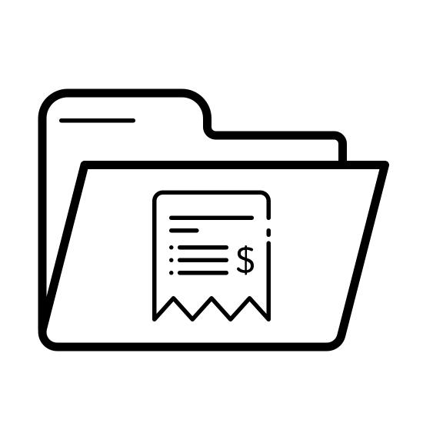 Billetes de carpeta icon
