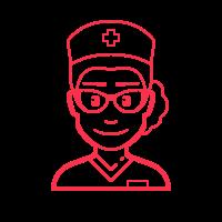 nurse female icon