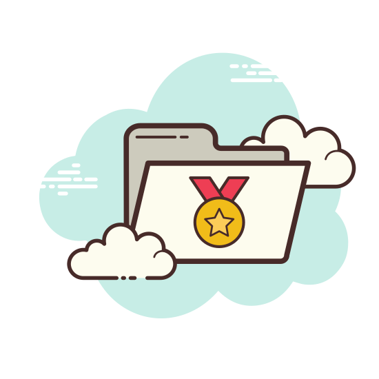 Medal and Certificate Folder icon