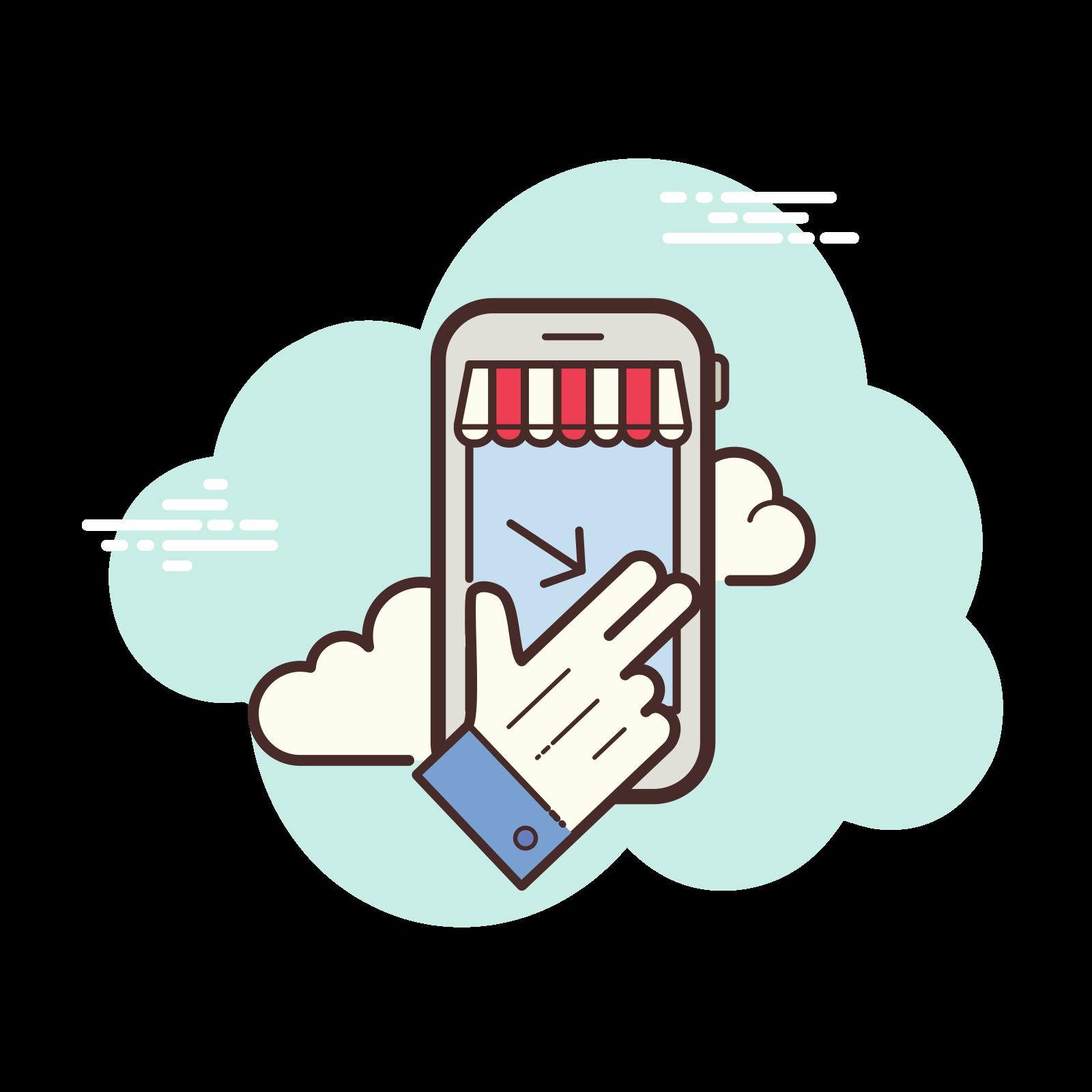 Mobile Shop Swipe icon