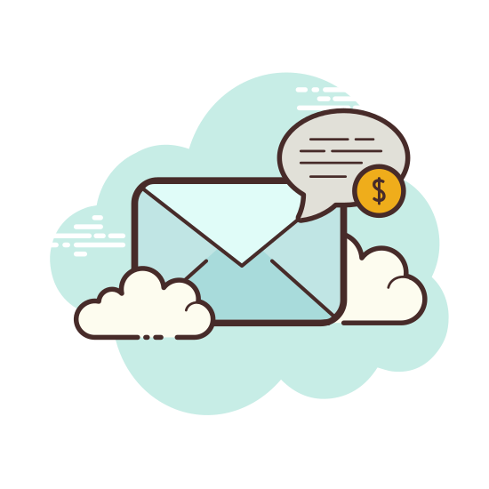 Money Transfer icon. The icon is a picture for the logo Money Transfer. The icon is in the shape of a rectangle. The rectangle is what appears to be an envelope. The envelope looks to have a bill coming out of the top of it.