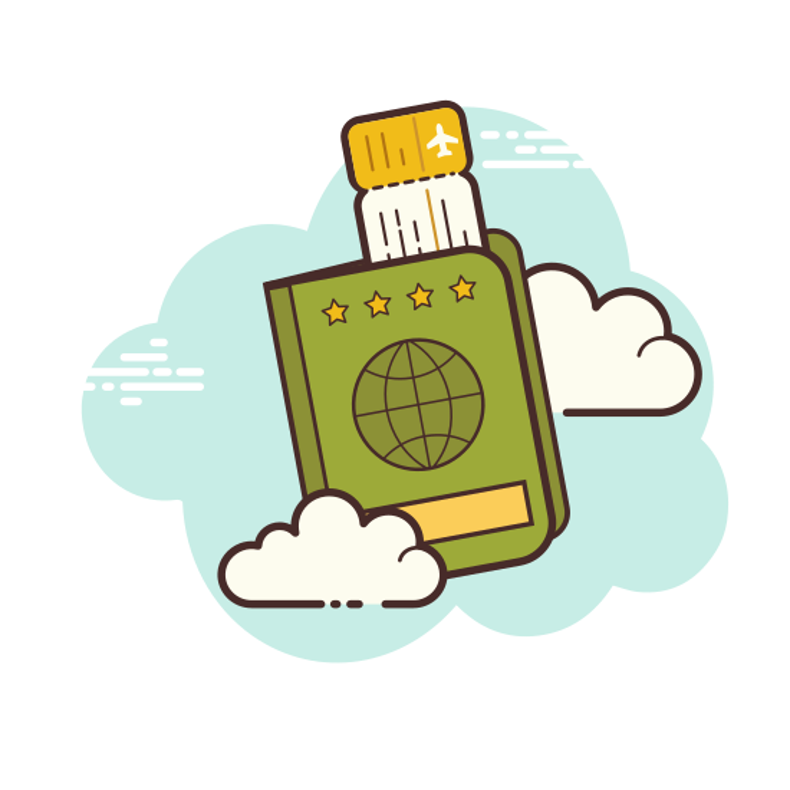 Passport Fly Ticket icon