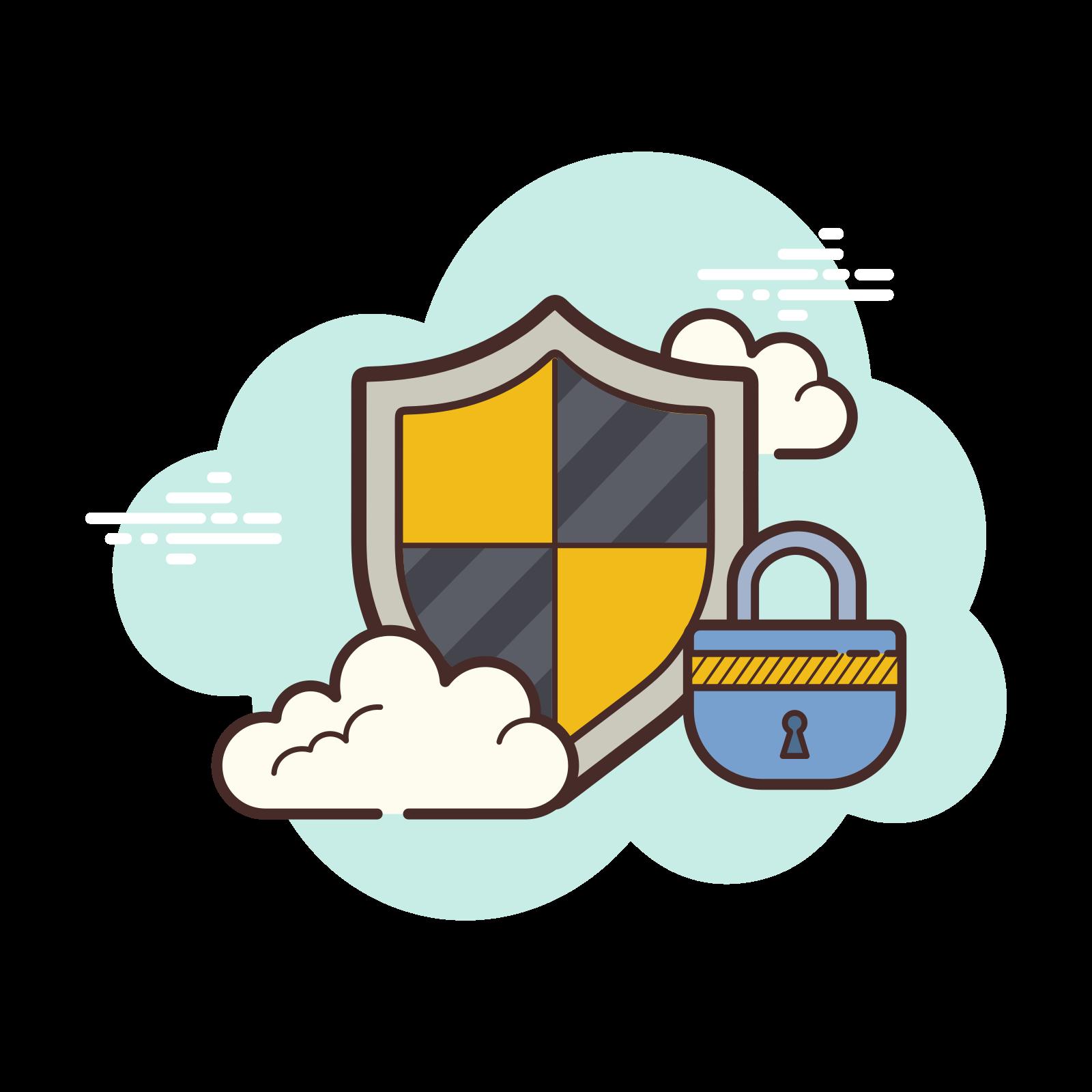 Security Lock Yellow icon