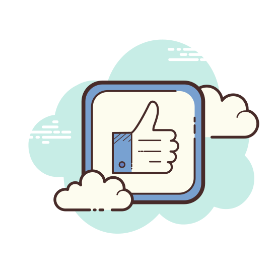Thumbs Up icon. The universal thumbs up icon for liking things on facebook. A right hand in the thumbs up position, viewed from the outward side of the knuckle, four fingers hidden.