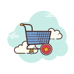 clouds favorite-cart icon