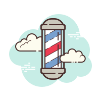 barber pole icon
