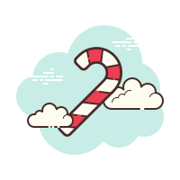 Cane Shaped Hard Candy icon