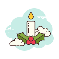 Bougie de Noël icon