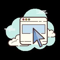 Cursor in a Monitor icon