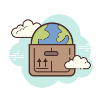 worldwide delivery icon