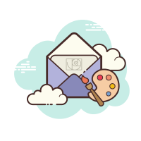 Open Envelope Art icon
