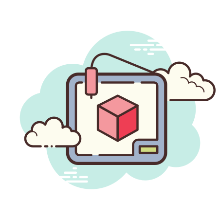 3D Printer icon in Cloud