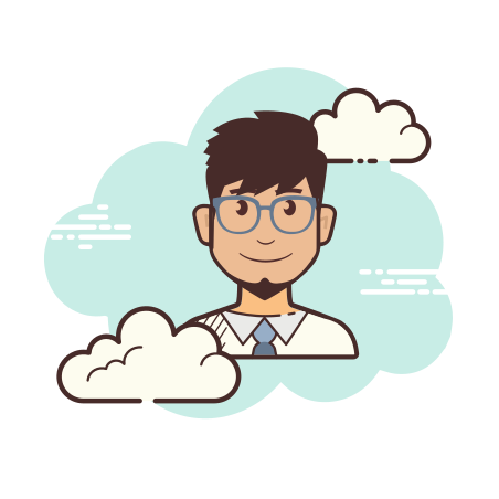 Administrator Male icon in Cloud