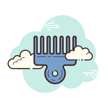 Afro Pick icon in Cloud