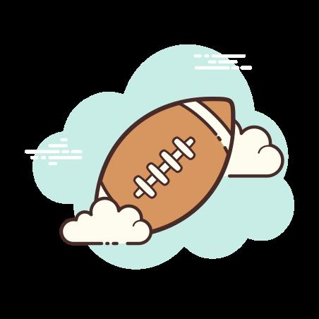 American Football Ball icon in Cloud
