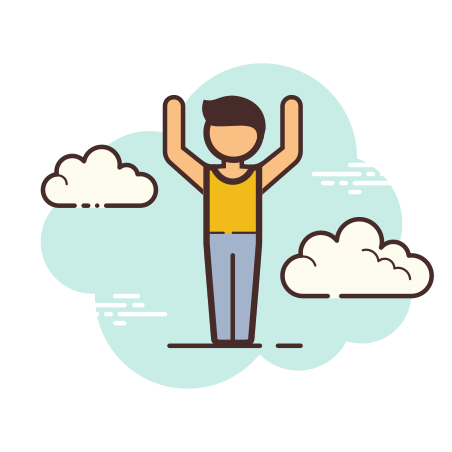 Arms Up icon in Cloud