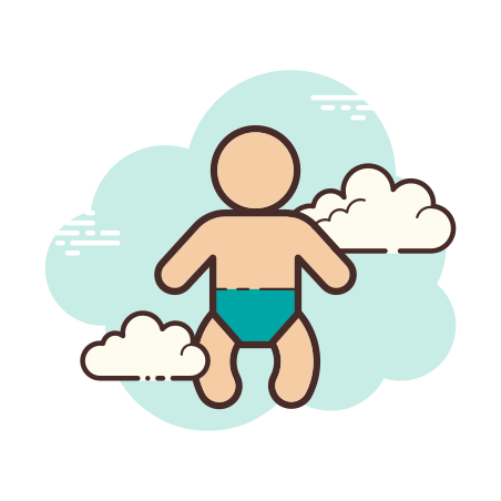 Baby icon in Cloud