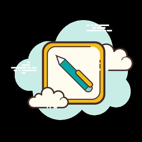 볼 포인트 펜 icon in Cloud