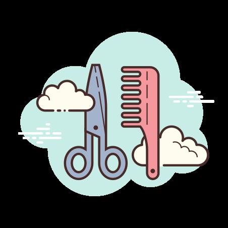 Barbershop icon in Cloud