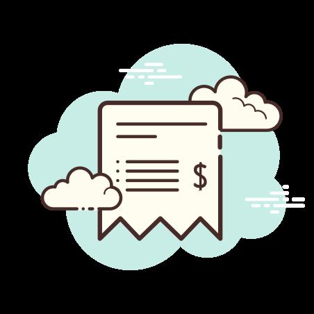Bill icon in Cloud