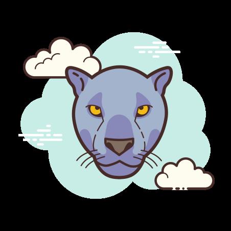 Black Jaguar icon in Cloud