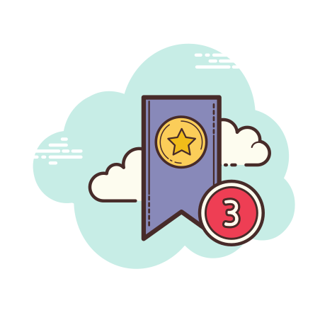 Three Bookmarks icon