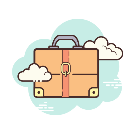 Briefcase icon in Cloud