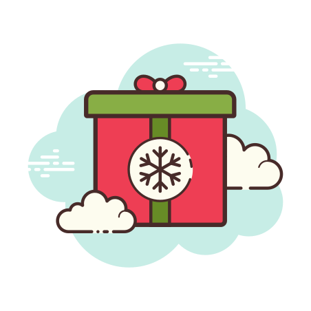 Christmas Gift icon in Cloud