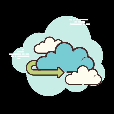 Cloud Arrow Left icon