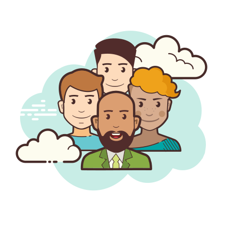 Crowd icon in Cloud