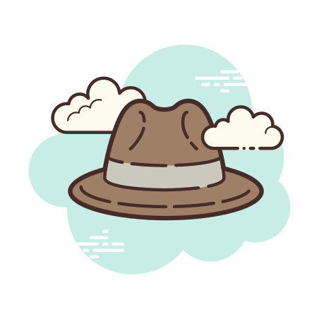 Detective Hat icon in Cloud