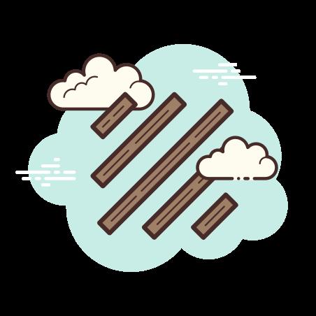 대각선 icon in Cloud
