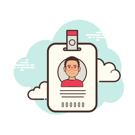 Name Tag icon in Cloud