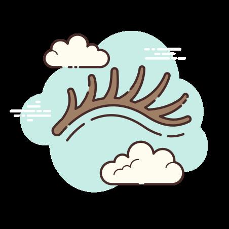 Eyelash icon in Cloud