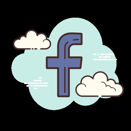 Facebook F icon in Cloud