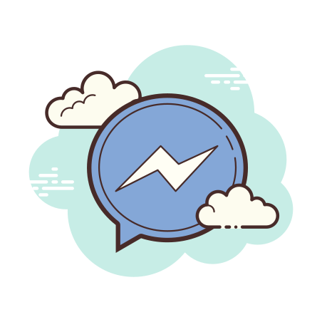 Facebook Messenger icon in Cloud