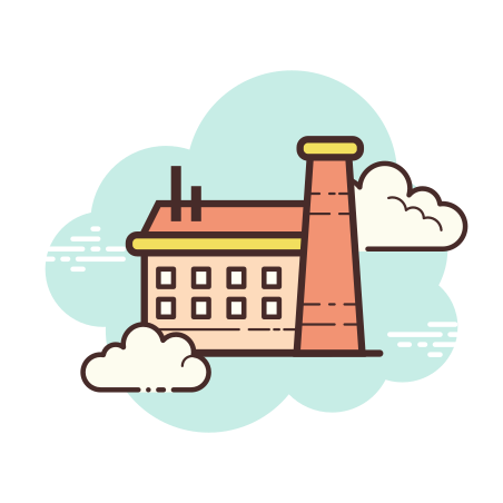 Factory icon in Cloud