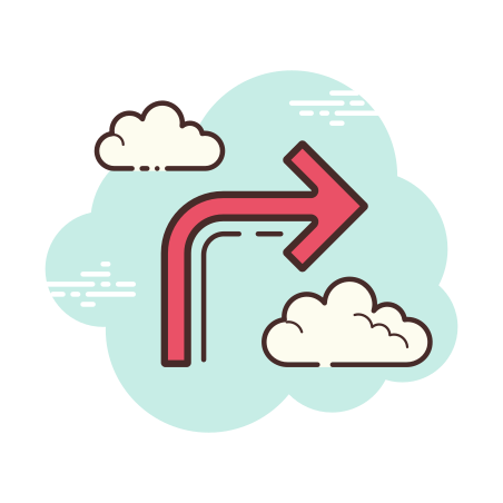 Forward Arrow icon in Cloud
