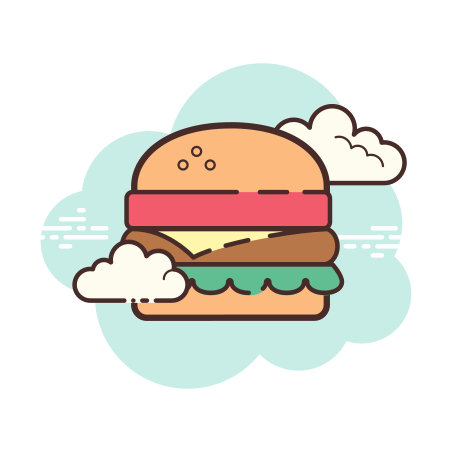 햄버거 icon in Cloud