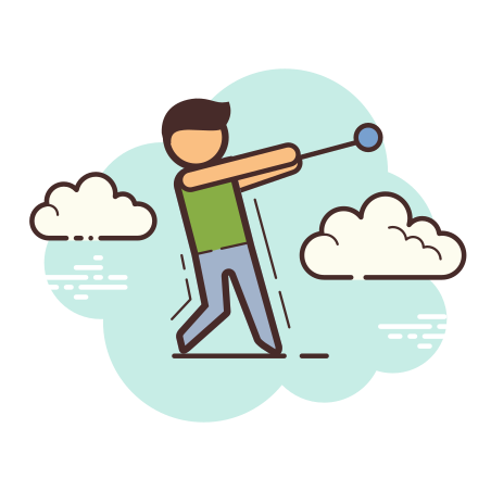 Hammer Throw icon in Cloud