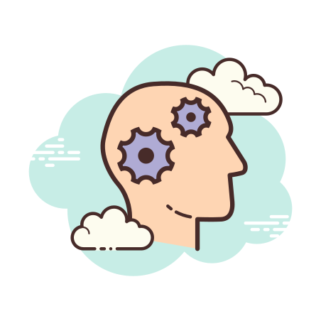 Learning icon in Cloud