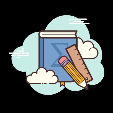Math Book icon in Cloud