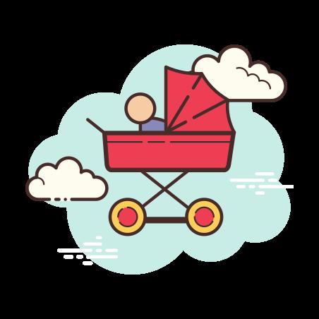 Pram icon in Cloud