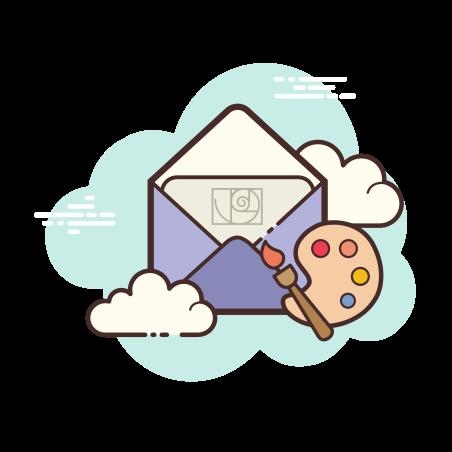 Open Envelope Art icon