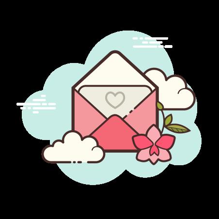 Open Envelope Love icon