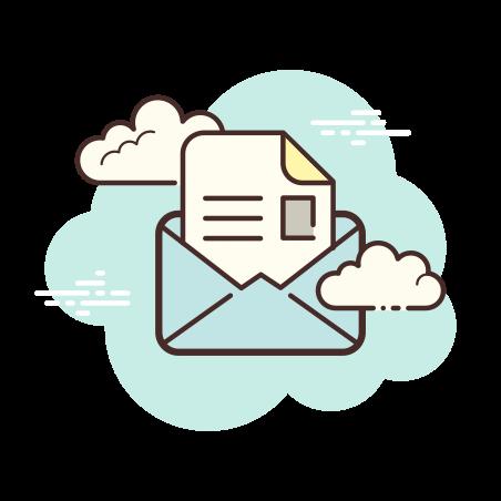 Open Envelope icon in Cloud