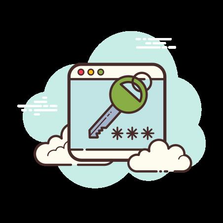 Password Window icon in Cloud