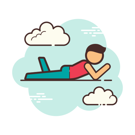Person Laying Down icon in Cloud