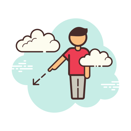 Person Pointing icon in Cloud